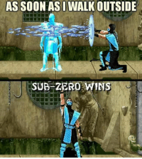 Memes, Sub-Zero, and Zero: AS SOON ASIWALKOUTSIDE  SUB-ZERO WIN -ImTheCheesiest-