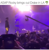 asaprocky was on his injuredgenerationtour at theforum in LA & brought out drake performing nonstop ‼️ Follow @bars for more ➡️ DM 5 FRIENDS: ASAP Rocky brings out Drake in LA asaprocky was on his injuredgenerationtour at theforum in LA & brought out drake performing nonstop ‼️ Follow @bars for more ➡️ DM 5 FRIENDS
