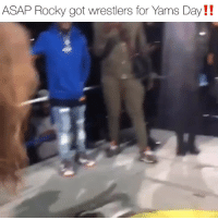 asaprocky going all out for. yamsday & even gets gifted a chain 🔥 Follow @bars for more ➡️ DM 5 FRIENDS: ASAP Rocky got wrestlers for Yams Day!! asaprocky going all out for. yamsday & even gets gifted a chain 🔥 Follow @bars for more ➡️ DM 5 FRIENDS