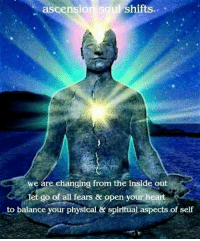 Can you Feel the Shift?: ascension  soul Shifts  we are changing from the inside out  let go of all fears & pen your heart  to balance your physical & spiritual aspects of self Can you Feel the Shift?