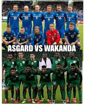 Game, Asgard, and Todays: ASGARD VS WAKANDA  13  17 Todays game