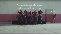 "Infinity, Vevo, and Thanos: Asguardians celebrating  their escape from Hela  Thanos  vevo <p>The opening of Infinity War via /r/MemeEconomy <a href=""https://ift.tt/2KLSMMI"">https://ift.tt/2KLSMMI</a></p>"