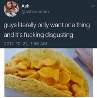 Ash, Fucking, and Dank Memes: Ash  @ashcammm  guys literally only want one thing  and it's fucking disgusting  2017-10-22, 1:56 AM @boyswhocancook