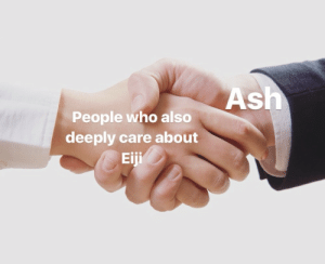 Ash, Target, and Tumblr: Ash  People who also  deeply care about  Eiji lynx-okumura:  Am I wrong