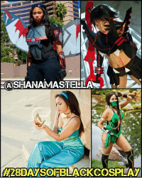 """Memes, Cosplay, and Photography: ASHANAMASTEI LAN  """"J  28DAMSOEBLACKCOSPEAM My 15th 28daysofblackcosplay feature goes to the totally awesome @shanamostella! 🙌🏾From PrincessJasmine, to an Avenger, to kickass KillLaKill warrior Ryuko. Be sure to check out her page and give her a follow! 👉🏾@shanamostella -- Also be sure to follow @cosplayofcolor for daily cosplay photography that emphasizes diversity and representation."""