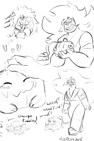 ashsanchezart:  I doodled a bunch of jasper and pumpkin as a warmupI really want them to be friends ;____;: ashsanchezart:  I doodled a bunch of jasper and pumpkin as a warmupI really want them to be friends ;____;