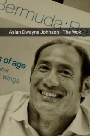 Can you smell what he's cooking?: Asian Dwayne Johnson- The Wok  Of  age  in Can you smell what he's cooking?
