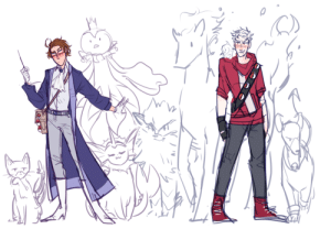 Fire, Gym, and Lmao: ask-art-student-prussia:  bubblyernie: someone requested something pokemon-hetalia related art tag // commission info   lmao water and oil pair.i imagine they'd be a pair of badass husbands who have both water and fire types in their gym (or..mansion considering roderich's whole schtick), and though they never get along, they're a hard to beat duo when fighting together. roderich doesnt like to fight but gilbert sure as hell doesalso neighbouring gym leader eliza