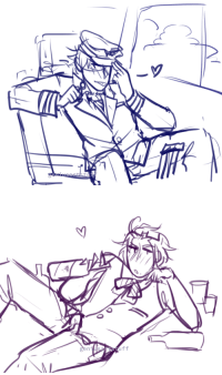 ask-art-student-prussia:  geniusartstuff: break from animating to draw a flirty pilot and a slutty flight attendant  art in art tag  2 minutes done!!: ask-art-student-prussia:  geniusartstuff: break from animating to draw a flirty pilot and a slutty flight attendant  art in art tag  2 minutes done!!