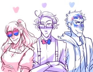 Target, Tumblr, and Blog: ask-art-student-prussia:  !!!!  happy pride, brought to you by bi-crew
