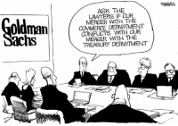 Bill Bramhall, New York Daily News: ASK THE  MERGER THE  COMMERCE DEPARTMENT  CONFLICTS WITH OUR  MERCER WITH THE  TREASURY DEPARTMENT Bill Bramhall, New York Daily News
