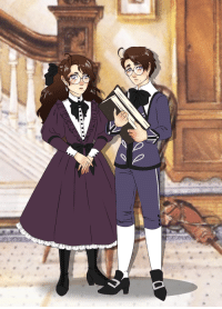 Target, Tumblr, and Blog: ask-victorian-austrian: Siblings Edelstein, age 10.At Home in Vienna.
