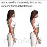 Gym, Free, and Link: ask yourself is she actually thick or just  suffering from lumbar lordosis 😂😂 . @DOYOUEVEN 👈🏼 TWO WORDS = FREE SHIPPING! 📦 48 hours only (store link in BIO ✔️)