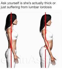 Dank Memes, Suffering, and Ask: Ask yourself is she's actually thick or  just suffering from lumbar lordosis
