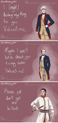 Target, Tumblr, and Blog: @ask1Stheertuyglbert  mght)  (rl  for you  Valentine  ron   @ask1Stheertuyglbert  De won  oth about yu  eister  eictine  ron   @ask1Stheertuyglbert  Ple  ease, us  볼  dont aot  get  me  kiled  on ask18thcenturygilbert:  Leutnant von Katte doesn't have high standards.  I thought I should try the valentine's cards too, for once, so… here you go!
