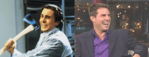"""aska-tl:  bundyspooks: In the movie American Psycho, Christian Bale based the main character on a Letterman interview featuring Tom Cruise in 1999.When asked about the inspiration behind Patrick Bateman, he replied:   """"Tom Cruise on David Letterman had this very intense friendliness with nothing behind the eyes.""""  This made me laugh so much : aska-tl:  bundyspooks: In the movie American Psycho, Christian Bale based the main character on a Letterman interview featuring Tom Cruise in 1999.When asked about the inspiration behind Patrick Bateman, he replied:   """"Tom Cruise on David Letterman had this very intense friendliness with nothing behind the eyes.""""  This made me laugh so much"""