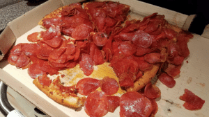Asked for extra pepperoni. Pizza Hut got the memo.: Asked for extra pepperoni. Pizza Hut got the memo.