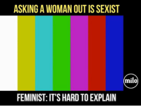 """America, Facebook, and Feminism: ASKING A WOMAN OUT IS SEXIST  milo  FEMINIST: IT'S HARD TO EXPLAIN """"It's hard to explain"""" because it makes absolutely no damn sense... I can't deal with these kinds of idiocy. Feminism has killed chivalry. trumplife feminismiscancer liberalismisamentaldisorder trumpmemes liberals libbys democraps liberallogic liberal maga conservative constitution presidenttrump resist thetypicalliberal typicalliberal merica america stupiddemocrats donaldtrump trump2016 patriot trump yeeyee presidentdonaldtrump draintheswamp makeamericagreatagain trumptrain triggered CHECK OUT MY WEBSITE AND STORE!🌐 thetypicalliberal.net-store 🥇Join our closed group on Facebook. For top fans only: Right Wing Savages🥇 Add me on Snapchat and get to know me. Don't be a stranger: thetypicallibby Partners: @theunapologeticpatriot 🇺🇸 @too_savage_for_democrats 🐍 @thelastgreatstand 🇺🇸 @always.right 🐘 @keepamerica.usa ☠️ @republicangirlapparel 🎀 @drunkenrepublican 🍺 TURN ON POST NOTIFICATIONS! Make sure to check out our joint Facebook - Right Wing Savages Joint Instagram - @rightwingsavages"""