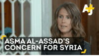 This woman is concerned about Syria's humanitarian crisis. Amnesty International says her husband's to blame for most of the war crimes.: ASMA AL-ASSAD'S  CONCERN FOR SYRIA This woman is concerned about Syria's humanitarian crisis. Amnesty International says her husband's to blame for most of the war crimes.