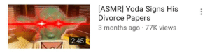 Marriage Story (2019): [ASMR] Yoda Signs His  Divorce Papers  3 months ago · 77K views  2:45 Marriage Story (2019)