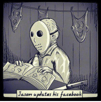 Happy Friday the 13th yeh wankers!: ason ates his  book Happy Friday the 13th yeh wankers!