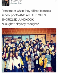 even the boys . . . . . . . Credit to owner✌: Aspa Stav  Remember when they all had to take a  school photo AND ALL THE GIRLS  ENCIRCLED JUNGKOOK  *Coughs playboy coughs even the boys . . . . . . . Credit to owner✌