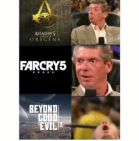 Dank, Food, and Meme: ASSASSINS  ORIGINS  FARCRY5  BEYOND  FOOD  EVIL Ubisoft had a pretty solid line up this year with the best looking Assassins creed game ever, best looking Far Cry game ever and Beyond Good and Evil 2 after being delayed like 50 times. Really wished they announced another Splinter cell or Prince of Persia game though. I really wanted those rebooted or remastered What did you guys think? e3 ubisoft newgames farcry assassinscreed beyondgoodandevil fallout fallout3 falloutnewvegas fallout4 falloutmemes meme dank gaming