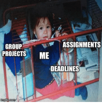 Group, Trapped, and Deadlines: ASSIGNMENTS  GROUP  PROJECTSME  DEADLINES Trapped