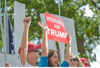 Memes, Trump, and Pro: ASSOCIATE  HISPANICS  FOR  RUMF More photos of pro-Trump demonstrators at the 'Mother of all Rallies' happening in Washington, D.C.