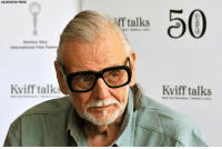 BREAKING NEWS: Horror film pioneer George A. Romero, best known for creating the zombie classic 'Night of the Living Dead,' has died at the age of 77 after a battle with lung cancer, manager says.: ASSOCIATED PRESS  0  f talks  Kviff talk  Kviff talks BREAKING NEWS: Horror film pioneer George A. Romero, best known for creating the zombie classic 'Night of the Living Dead,' has died at the age of 77 after a battle with lung cancer, manager says.