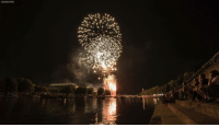Memes, Fireworks, and Festival: ASSOCIATED PRESS Fireworks over the River Trent, as part of the Nottingham Riverside Festival, on Saturday August 4, 2018.