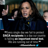 """Do you agree with Sen. Kamala Harris?: ASSOCIATED PRESS  FOX  NEWS  """"Every single day we fail to protect  DACA recipients is a day our country  is failing an important moral test.  We are running out of time.  ー@KamalaHarris步 Do you agree with Sen. Kamala Harris?"""