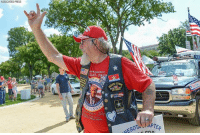 A pro-Trump supporter attends 'The Mother of All Rallies' in Washington, D.C.: ASSOCIATEO PRESS  LDI  RL  PTER A pro-Trump supporter attends 'The Mother of All Rallies' in Washington, D.C.