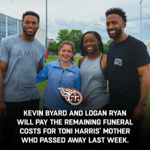 Family, Football, and Memes: ASTRO  HORLD  KEVIN BYARD AND LOGAN RYAN  WILL PAY THE REMAINING FUNERAL  COSTS FOR TONI HARRIS' MOTHER  WHO PASSED AWAY LAST WEEK. Football truly is family. 🙏  @ToniHarris | @KB31_Era | @RealLoganRyan | @Titans https://t.co/tBmXGAteI5
