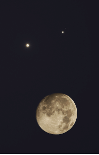 Target, Tumblr, and Blog: astronomyblog:  Conjunction Full Moon, Venus and JupiterImage credit:  Wang Letian