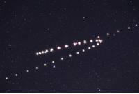astronomyblog:  Retrograde motion of Mars in the night sky of the Earth.Image Credit: Tunc Tezel  : astronomyblog:  Retrograde motion of Mars in the night sky of the Earth.Image Credit: Tunc Tezel