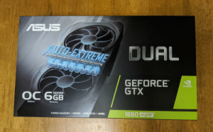 Yes boys!: ASUS  ALTO-EXTREME  DUAL  Perfected Automated Manufacturing  GEFORCE  GTX  NVIDIA  GDDR6  ОС бGв  Memory  Edition  TM  1660 Super  TURING SHADERS / GDDR6/ DIRECTX 12 / ANSEL Yes boys!