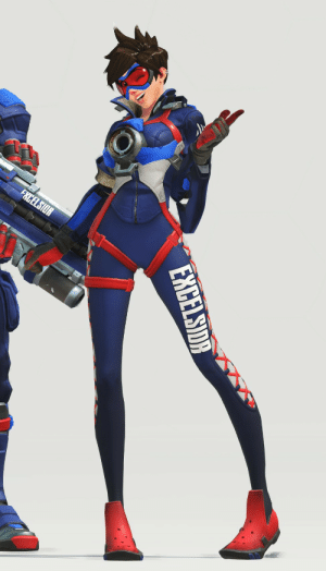 asynca:  I absolutely adore one of the poses Tracer is in for the Overwatch League posters (this one is for the New York Excelsior). akejrhfgalkjerg I LOVE HER : asynca:  I absolutely adore one of the poses Tracer is in for the Overwatch League posters (this one is for the New York Excelsior). akejrhfgalkjerg I LOVE HER