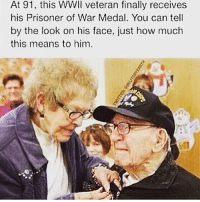Just warms my soul! - - Follow me: @thecombatpage for more!! - gun merica USA GodBlessAmerica secondamendment 2ndamendment defendthesecond military supportthetroops operator ammo onenationundergod guns conservative liberal politics liberty country firearms guncontrol patriotic usarmy righttobeararms 2ndamendment donttreadonme red hillaryforprison2016 callofduty ww2: At 91, this WWll veteran finally receives  his Prisoner of War Medal. You can tell  by the look on his face, just how much  this means to him Just warms my soul! - - Follow me: @thecombatpage for more!! - gun merica USA GodBlessAmerica secondamendment 2ndamendment defendthesecond military supportthetroops operator ammo onenationundergod guns conservative liberal politics liberty country firearms guncontrol patriotic usarmy righttobeararms 2ndamendment donttreadonme red hillaryforprison2016 callofduty ww2