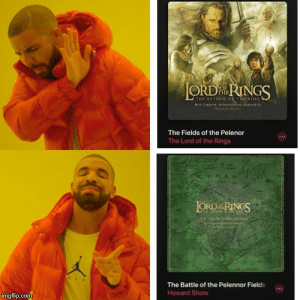The Lord of the Rings, Lord of the Rings, and Com: AT ETURN OF VNGS  THE  HOWAR SO  The Fields of the Pelenor  The Lord of the Rings  LORD RINGS  The Battle of the Pelennor Fields  Howard Shore  imgflip.com Arise, arise, riders of Theoden!