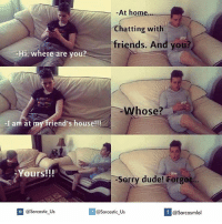 forging: At home...  chatting with  friends. And you?  i, where are you?  Whose?  -I am at m  friend's house!!!  Yours!!!  orry dude! Forg  If @Sarcasmlol  @Sarcastic Us  @Sarcastic Us