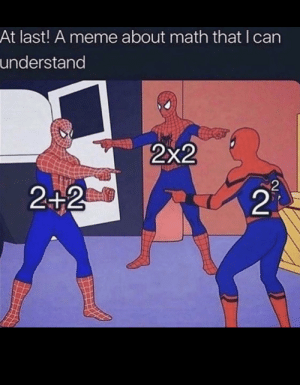 I don't understand math: At last! A meme about math that I can  understand  2x2  2  2+2  21 I don't understand math