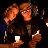 At least 26 people were killed after a gunman opened fire at a church in Texas. The attack happened at the First Baptist Church in Sutherland Springs, population 400. Governor Greg Abbott said it was the worst mass shooting in the history of Texas. A candlelit vigil was held for the victims. PHOTO: REUTERS-Mohammad Khursheed BBCSnapshot Texas shootings SutherlandSprings church gunman candlelit vigil: At least 26 people were killed after a gunman opened fire at a church in Texas. The attack happened at the First Baptist Church in Sutherland Springs, population 400. Governor Greg Abbott said it was the worst mass shooting in the history of Texas. A candlelit vigil was held for the victims. PHOTO: REUTERS-Mohammad Khursheed BBCSnapshot Texas shootings SutherlandSprings church gunman candlelit vigil