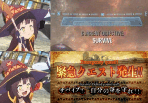 At least in Konosuba they tell you what to do: At least in Konosuba they tell you what to do