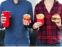 Hold on tight people! The 4 for $4 now comes with a Double Stack.: At participating Wendy's for a limited time. Includes A piece nuggets, small fries and drink. Not valid in AK and Hold on tight people! The 4 for $4 now comes with a Double Stack.