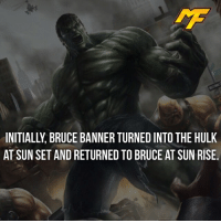 Facts, Hype, and Meme: AT SUNSET AND RETURNED TO BRUCE AT SUN RISE. |- I'm glad they changed it, hulk isn't a werewolf! -| - - - - marvel marveluniverse dccomics marvelcomics dc comics hero superhero villain xmen apocalypse xmenapocalypse geekhype hype doctorstrange spiderman deadpool meme captainamerica ironman teamcap teamstark teamironman civilwar captainamericacivilwar marvelfact marvelfacts fact facts logan