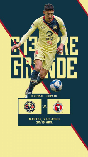 🚨 IT'S GAMEDAY 🚨  🏆 // Copa MX Semifinals 🆚 // Xolos 🕤 // 10:00 pm EDT / 7:00 pm PDT 📍 // Estadio Azteca 📺🇺🇸 // Univision Deportes  📺🇲🇽 // Televisa  🦅 // #FlyWithUs: AT&T-  Gi  0E  SEMIFINAL COPA MX  CA  VS  MARTES, 2 DE ABRIL  20:15 HRS. 🚨 IT'S GAMEDAY 🚨  🏆 // Copa MX Semifinals 🆚 // Xolos 🕤 // 10:00 pm EDT / 7:00 pm PDT 📍 // Estadio Azteca 📺🇺🇸 // Univision Deportes  📺🇲🇽 // Televisa  🦅 // #FlyWithUs