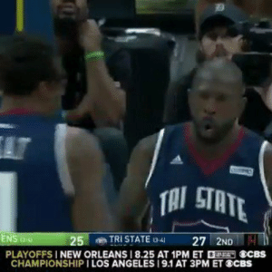 38-year-old Dunk Legend Jason Richardson with the REVERSE ALLEY-OOP DUNK!!   📹 @theBIG3   https://t.co/58yV0OCMWr: AT  TAI STATE  TRI STATE 3-4  27 2ND4  ENS  25  PLAYOFFS I NEW ORLEANS 8.25 AT 1PM ET ECBS  CHAMPIONSHIP I LOS ANGELES 19.1 AT 3PM ET SCBS 38-year-old Dunk Legend Jason Richardson with the REVERSE ALLEY-OOP DUNK!!   📹 @theBIG3   https://t.co/58yV0OCMWr