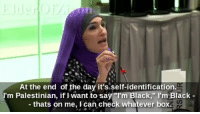 "Facebook, Feminism, and Fucking: At the end of the day it's self-identification.  I'm Palestinian, if I want to say ""I'm Black,"" I'm Black -  - thats on me, I can check whatever box. <p><a href=""http://lastsonlost.tumblr.com/post/175439967257/deepblooberc-lastsonlost-keyhollow"" class=""tumblr_blog"">lastsonlost</a>:</p>  <blockquote><p><a href=""https://deepblooberc.tumblr.com/post/175439353215/lastsonlost-keyhollow-thewolfman1995"" class=""tumblr_blog"">deepblooberc</a>:</p>  <blockquote><p><a href=""http://lastsonlost.tumblr.com/post/175439142887/keyhollow-thewolfman1995-rightsmarts"" class=""tumblr_blog"">lastsonlost</a>:</p>  <blockquote><p><a href=""http://keyhollow.tumblr.com/post/175436477570/thewolfman1995-rightsmarts-linda-sarsour"" class=""tumblr_blog"">keyhollow</a>:</p>  <blockquote><p><a href=""https://thewolfman1995.tumblr.com/post/175430909747/rightsmarts-linda-sarsour-says-muslims-of-any"" class=""tumblr_blog"">thewolfman1995</a>:</p>  <blockquote><p><a href=""https://rightsmarts.tumblr.com/post/165153070300/linda-sarsour-says-muslims-of-any-skin-color"" class=""tumblr_blog"">rightsmarts</a>:</p>  <blockquote><p>Linda Sarsour says Muslims of any skin color should be able to be considered ""black"" on a census to qualify for even more benefits. These people are insane.<br/><a href=""https://twitter.com/elderofziyon/status/905977965011492865"">https://twitter.com/elderofziyon/status/905977965011492865</a><br/><b><a href=""https://www.facebook.com/RightSmartsConservativeNews"">Follow Right Smarts On Facebook</a></b><br/></p><div id=""fb-root""></div> //  <div class=""fb-like"" data-href=""https://facebook.com/RightSmartsConservativeNews"" data-layout=""button_count"" data-action=""like"" data-size=""large"" data-show-faces=""false"" data-share=""true""></div></blockquote>  <p><a class=""tumblelog"" href=""https://tmblr.co/mPxVYxWuKR2CMbqrueo4UEQ"">@lastsonlost</a> <a class=""tumblelog"" href=""https://tmblr.co/mnmoSQIqm8tjDH0GHHQ1wQg"">@loudlytransparenttrash</a> <a class=""tumblelog"" href=""https://tmblr.co/mGk3LpG5QG2qKVbn2MhmzMA"">@black-girl-against-feminism</a> <a class=""tumblelog"" href=""https://tmblr.co/mEk7xoM9wix_2wMv5IxtF4Q"">@keyhollow</a> thought y'all might want to look into this</p></blockquote>  <p>I'm fucking dead</p></blockquote>  <figure class=""tmblr-full"" data-orig-height=""309"" data-orig-width=""400""><img src=""https://78.media.tumblr.com/bf05d8d12119c079eca30ba61daf1f8f/tumblr_inline_pb717riF2p1sp5650_500.gif"" data-orig-height=""309"" data-orig-width=""400""/></figure><p><a class=""tumblelog"" href=""https://tmblr.co/m0If3wg4Y-iGkel9dTadFYQ"">@jlongbone</a> <a class=""tumblelog"" href=""https://tmblr.co/m8HmCiE0PGuGgJ6cZBfpQsw"">@siryouarebeingmocked</a> would this be considered cultural appropriation? </p></blockquote>  <p>Can confirm cultural appropriation</p></blockquote>  <p><a class=""tumblelog"" href=""https://tmblr.co/mZHrjydhp9oUbxMGBDJA8rw"">@libertarirynn</a> though?</p></blockquote>  <p>😂😂😂😂</p><p>Omg what even is this woman on about </p>"