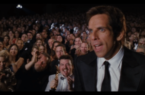 Tropic Thunder, Best, and Film: At the end of Tropic Thunder, Cody (Danny McBride) seems to have won an Oscar for Best Visual Effects for the film-within-a-film. He holds it while applauding Tugg's Oscar win.